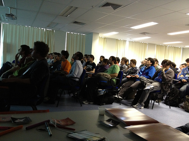 Apps hackers listening at BrazilJS Firefox OS Apps Hack Day