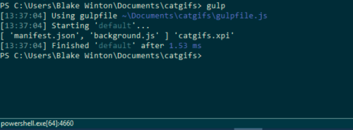 Just some command line stuff, nbd.
