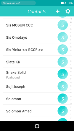 Firefox OS Contacts App