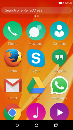 Firefox OS 2.5 developer preview homescreen