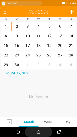 Firefox OS 2.5 developer preview Calendar