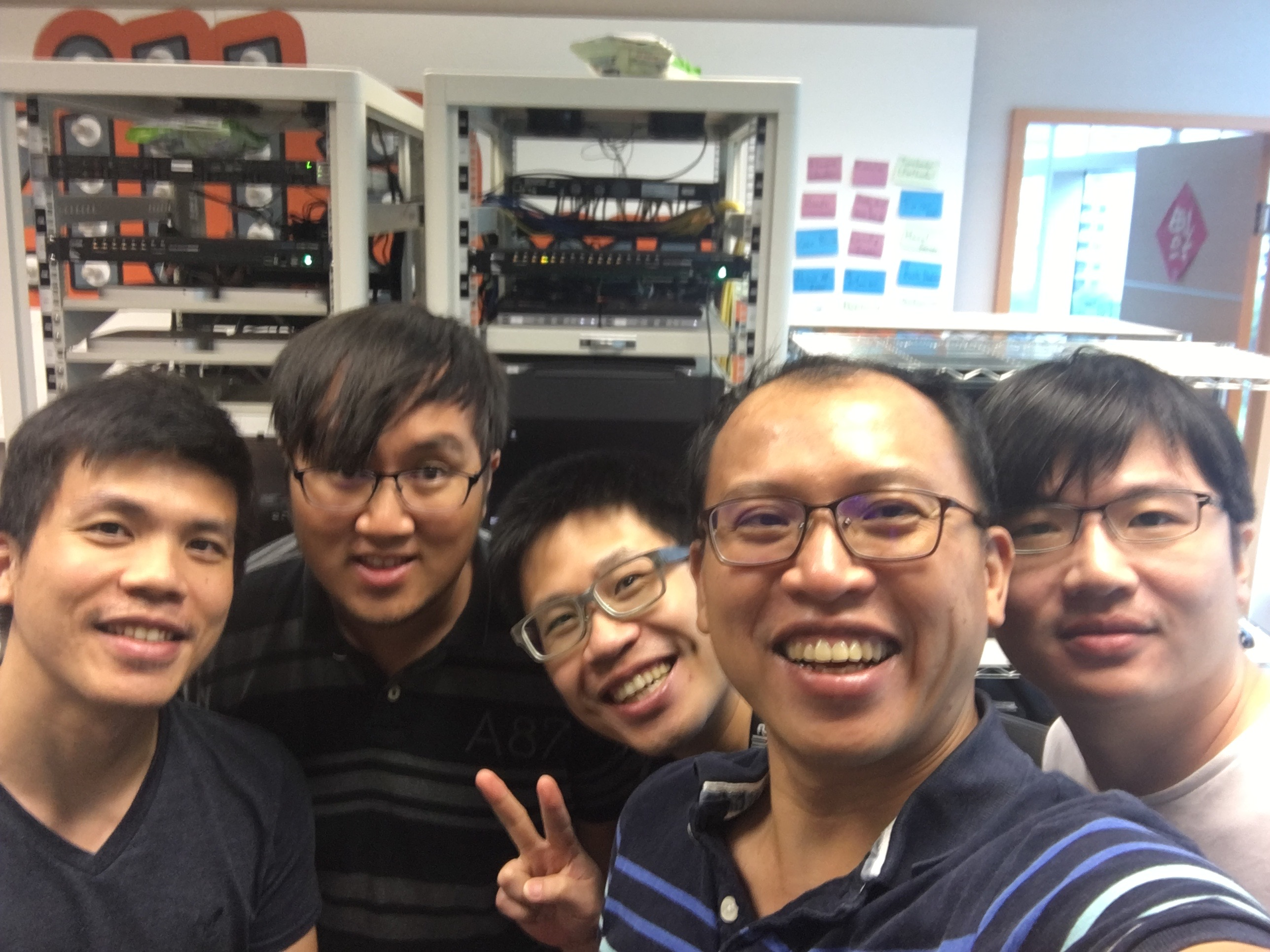 Bobby Chien, Fu-Hung Yen, Mike Lien, Shako Ho, and Walter Chen of the Hasal team