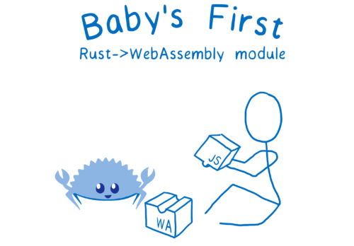 A baby putting together JS and WebAssembly blocks