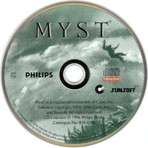 A Myst CD-ROM from the '90s