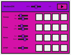 A sequencer with four effects and four steps that can be selected