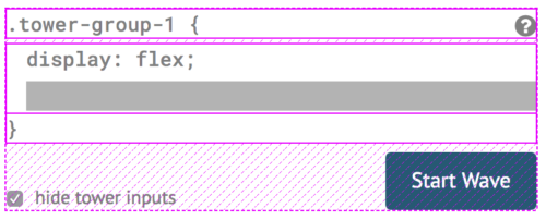 Flexbox highlighter showing containers, items and available space