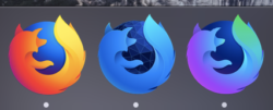 The macOS dock showing Firefox, Firefox Developer Edition, and Firefox Nightly all running simultaneously