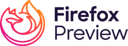 Wordmark of Firefox Preview